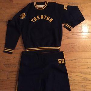 1940's-50's Vintage Champion Knitwear Sweatsuit Lg